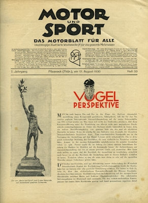 Motor & Sport 1930 Heft 33