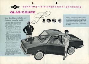 Glas 1004 Coupe Prospekt 9.1961