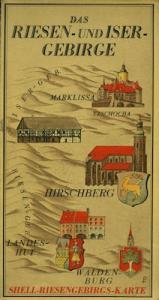 Shell Riesen- und Isargebirge Karte 1930er Jahre