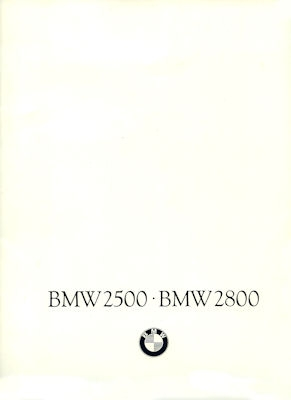 BMW 2500 2800 Prospekt 9.1968
