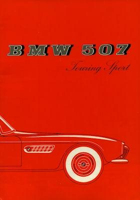 BMW 507 Touring Sport Prospekt 9.1957 Reprint