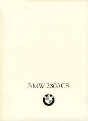 BMW 2800 CS Prospekt 12.1968