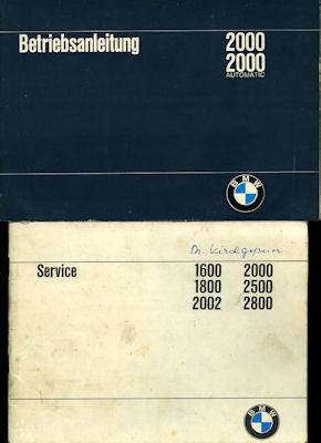 BMW 2000 2000 Automatic Bedienungsanleitung 1970