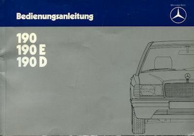 Mercedes-Benz 190 / E / D Bedienungsanleitung 1984