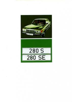 Mercedes-Benz 280 S SE Prospekt 1973