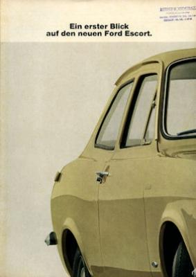 Ford Escort Prospekt 1 1968