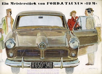 Ford Taunus 12 M Prospekt 1952