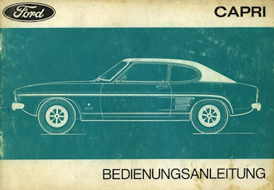 Ford Capri Bedienungsanleitung 1971