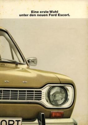 Ford Escort Prospekt 3 1968