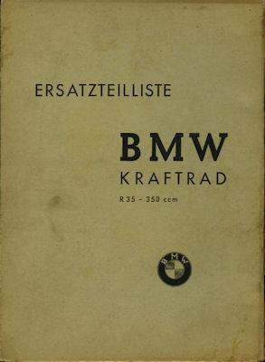 BMW R 35 Ersatzteilliste 1941