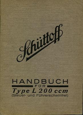 Schüttoff L 200 ccm Bedienungsanleitung ca. 1930