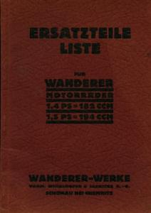 Wanderer 1,4 PS 182ccm, 1,5 PS 194ccm Ersatzteilliste 7.1929