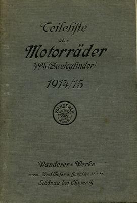 Wanderer Motorrad 2 PS Ersatzteilliste 1914/1915