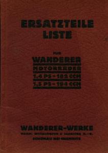 Wanderer 1,4 PS 182ccm, 1,5 PS 194ccm Ersatzteilliste 7.1931