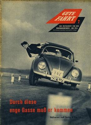 VW Gute Fahrt Heft 7 1954