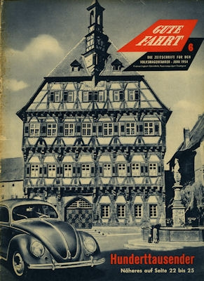 VW Gute Fahrt Heft 6 1954
