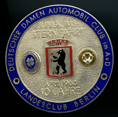 Plakette Damen Automobil Club 1963