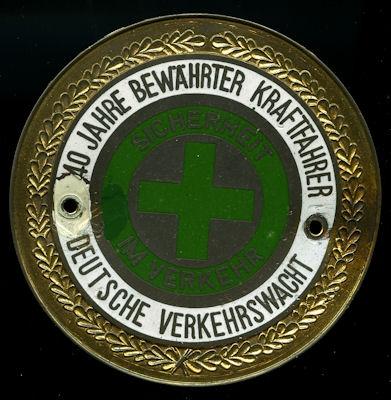 Plakette Bundesverkehrswacht ca. 1970er Jahre