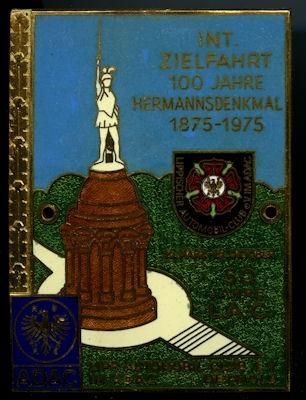 Plakette Zielfahrt 100 Jahre Hermannsdenkmal 1975