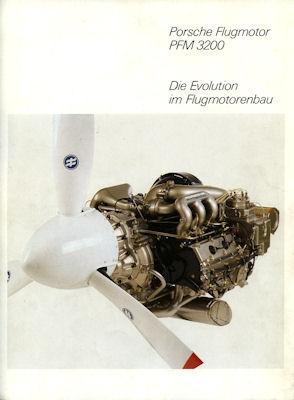 Porsche Flugmotor PFM 3200 Prospekt ca. 1984