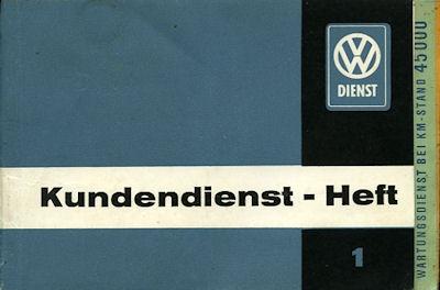 VW Käfer Kundendienst-Heft 1 1960