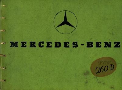 Mercedes-Benz Typ 260 D Prospekt 2.1937