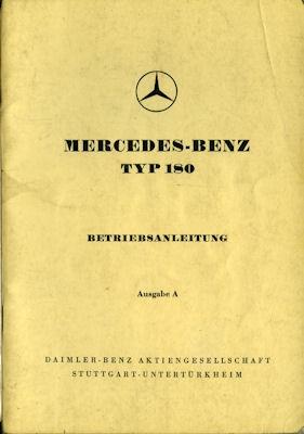 Mercedes-Benz 180 Bedienungsanleitung 9.1953