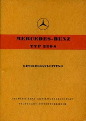 Mercedes-Benz 220 S Bedienungsanleitung 1959