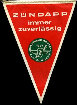 Original Wimpel Zündapp 1964