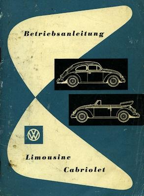 VW Käfer Bedienungsanleitung 8.1955