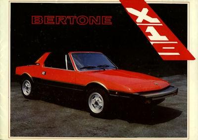 Fiat X 1/9 Bertone Prospekt 9.1983