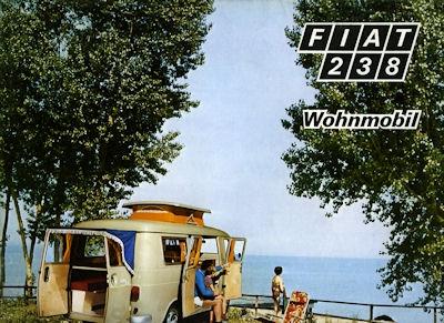 Fiat 238 Wohnmobil Prospekt 1969