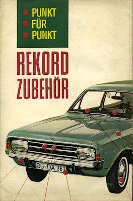 Opel Rekord C Zubehör Prospekt 2.1968