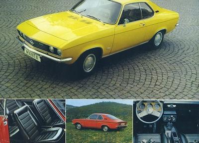 Opel Manta Prospekt 1972 gelb