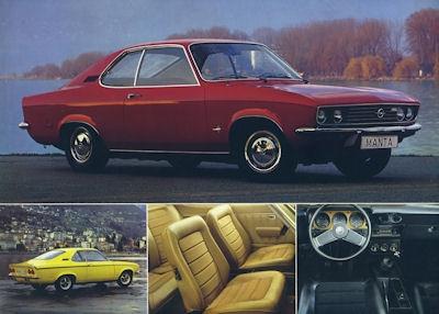 Opel Manta Prospekt 1972 rot
