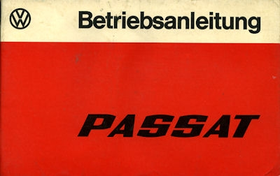 VW Passat Bedienungsanleitung 1977