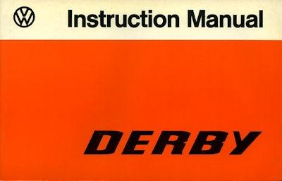 VW Derby Bedienungsanleitung 1977 e