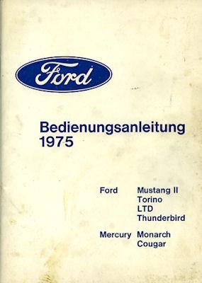 Ford US-Modelle Bedienungsanleitung 1975