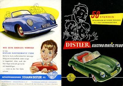 Porsche Distler Prospekt ca. 1954