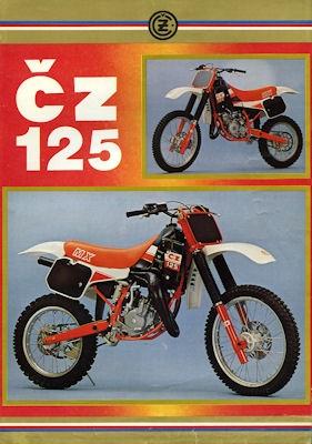 CZ 125 Enduro Prospekt 1980er Jahre