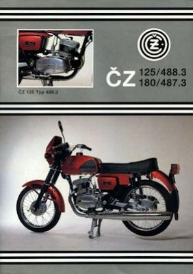 CZ 125 / 180 Touren Prospekt 1980er Jahre