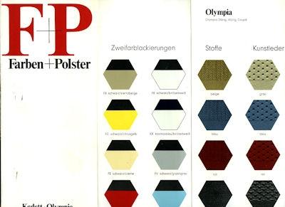 Opel Kadett / Olympia Farben 1970