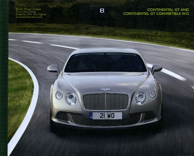 Bentley Continental GT and C. GT Convertable W12 Prospekt 2012