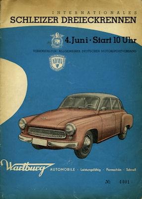 Programm 28. Schleizer Dreieck-Rennen 4.6.1961