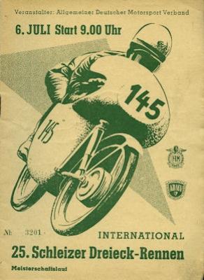 Programm 25. Schleizer Dreieck-Rennen 6.7.1958
