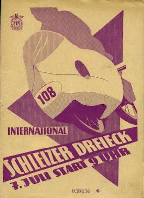Programm 24. Schleizer Dreieck-Rennen 7.7.1957