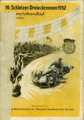 Programm 19. Schleizer Dreieck-Rennen 21.9.1952