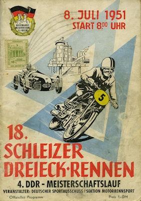 Programm 18. Schleizer Dreieck-Rennen 8.7.1951