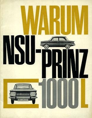 NSU Prinz 1000 L -Warum- Prospekt ca. 1964