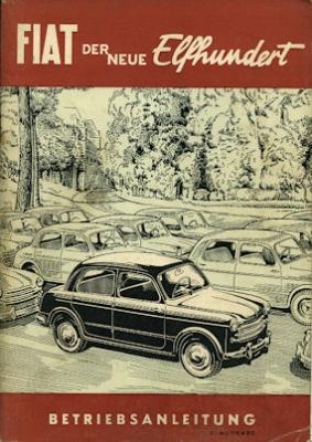 Fiat 1100 Bedienungsanleitung 1953